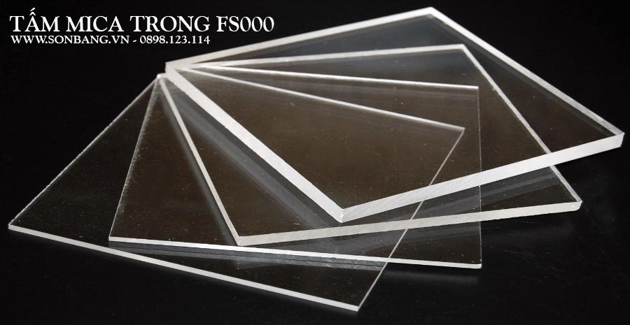 Tấm nhựa mica trong suốt GIÁ RẺ Trung Quốc PS000